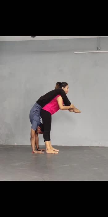 acro yoga with @suhani patel