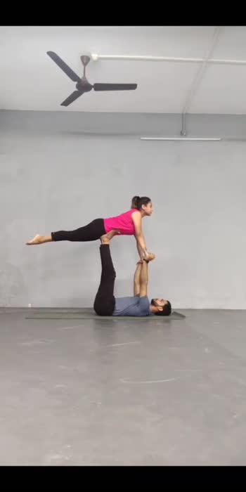 acro pose with @suhanee patel