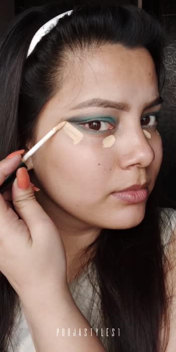 #turquoisegreeneyeslook #poojastyles1 #lookgoodfeelgood