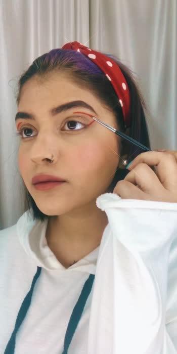 Graphic eyeliner why not  #makeup#makeupvideo#makeuplover