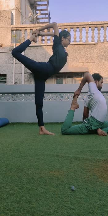 SUCCESS IS NO ACCIDENT. IT IS HARD WORK. PERSEVERANCE, LEARNING, STUDYING, SACRIFICE AND MOST OF ALL, LOVE OF WHAT YOU ARE DOING OR LEARNING TO DO.🙏🏻😇  Eka pada rajakapotasana & natarajasana duet with @riddhipatel2002 🧘♀️🧘♂️🙏  #partneryoga #yoga #acroyoga #yogainspiration #acro #yogaeverywhere #acrobatics #yogalife #yogaeverydamnday #yogapractice #fitness #partnerworkout #yogaeveryday #acrolove #yogachallenge #acrobalance #yogalove #partneracrobatics #acroyogafun #balance #partneracro #gymnastics #yogateacher #acroduo #loveyourself #partnerincrime #partnerforlife #motivationmonday #oppositeattracts #jaymityoga