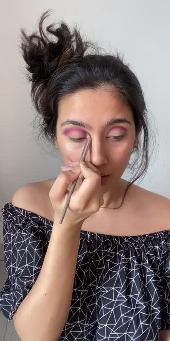 Monochrome Look 😇  Did you guys like it? #monochrome #purple #beauty #makeup #roposocreator