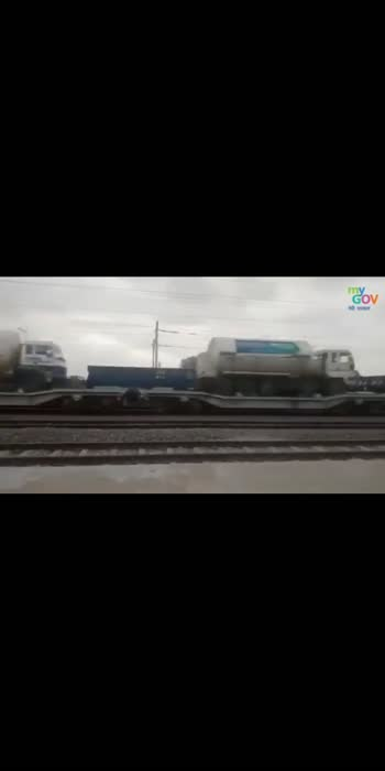 With the #OxygenExpress, watch how Ministry of Railways is determined to ensure that #Oxygen is transported across the country in lesser time. #IndiaFightsCorona
