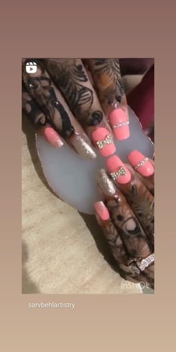 #sarvbehlartistry #trendingonroposo #trendingvideo #nailsofinstagram #makeupartist #fashionista #nailsextensions
