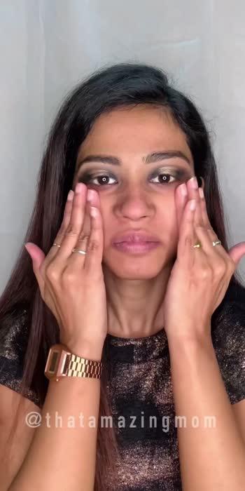 Black-gold halo eyes makeup tutorial  #EidMubarak #roposolove #roposostars #makeuptutorial #partymakeuplook #smokeyeyes