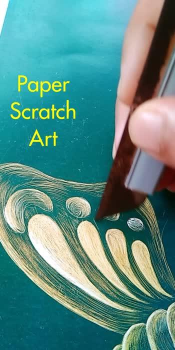 scratch art #paperscratchart #art #art& craft