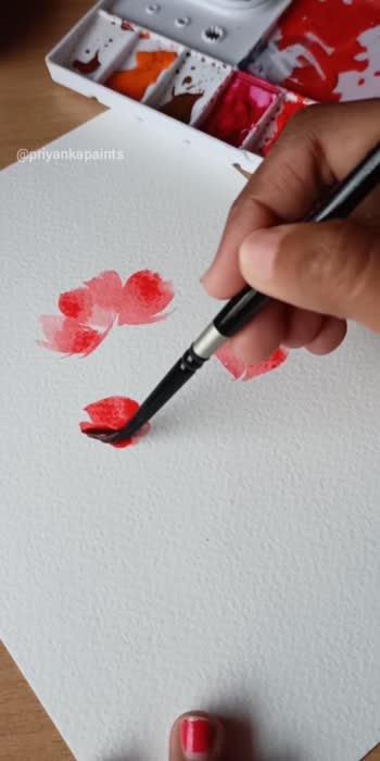 paint loose florals in easy way.  #florals #flowerslovers #florals #watercolor #art #artist