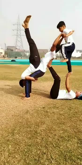 waaaaoooww👍👏😆#acrobatics #gymnastic #acrobats #acroboys#sports