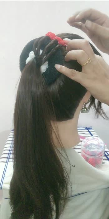 new trending hairstyle Dulhan hairstyle easy hairstyle#hairstyle