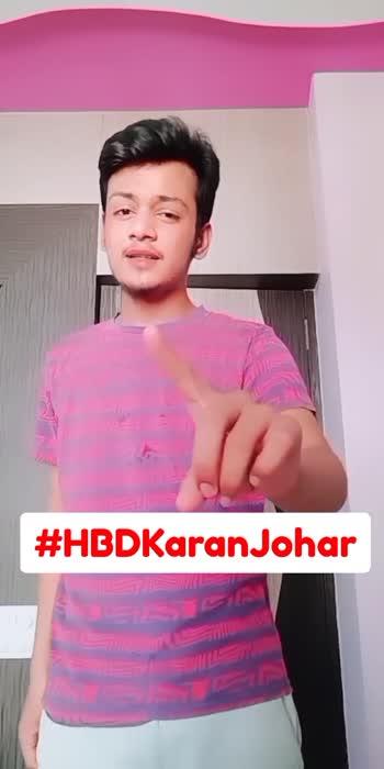 happy bday🎂 #hbdkaranjohar #roposostar #karanjohar #trending