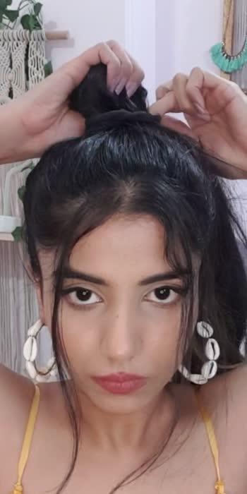 Braided Hairdo in one minute #hairdo #hairstyle #bun