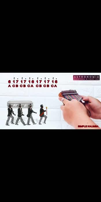 ASTRONOMIA Coffin Dance Meme Song Kalimba Easy Tutorial  #coffindance #kalimbamusic #bgm #karthiktechy #karthiktechTv11 #trendingvideo