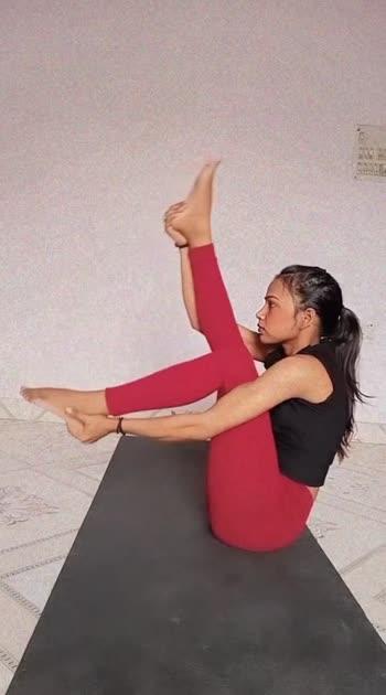 Boat Pose.  #yogachallenge #yogainspiration #yogalove #yogaanytime #yogaworld #yogagirl #yogatrending #yogastudent #yogateacher #yogamotivation #yogamastersindia #yogapractice #yogapostures #yogapose