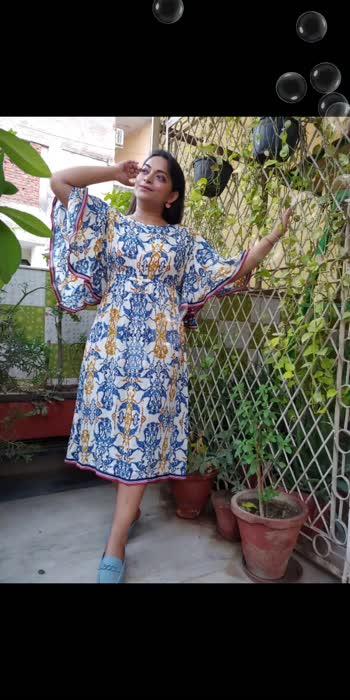 Styling Kaftan style Dress . #fashionquotient #beats #captured #celebrations #desi #trendingvideo #trending #punjabiway #roposostars #roposo-beats #roposolove #soroposo #fashionblogger #delhibloggercommunity #bloggers #dress #styleblogger #haha-tv #celebrities #twinklewithmystyle