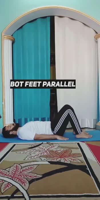 #roposostar #bridgepose #yogalovers #yogaathome #trending #viralvideos #yogaforlife #yogaforall #yogis
