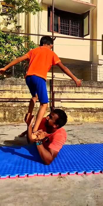 acro skills with my student Arjun #acrobatics #acro #skill #roposostars