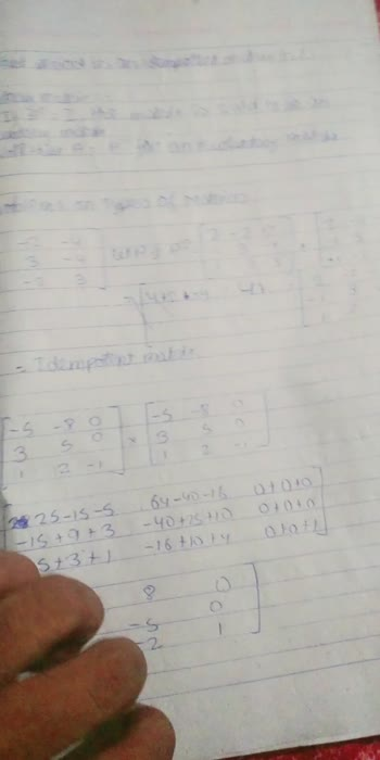 notes matrices