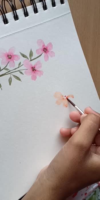 easy peach color florals  #watercolour #watercolorpainting #florals #floralprint #art #artist
