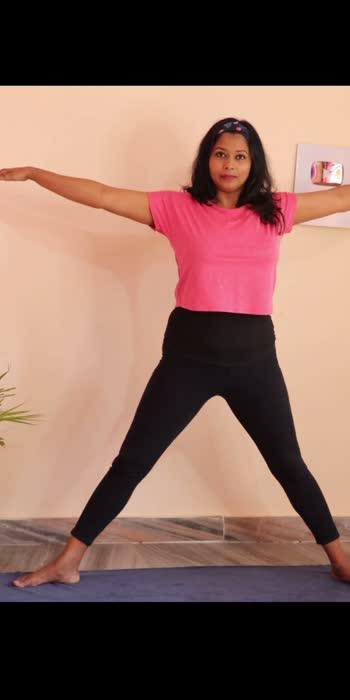 Trikonasana #yoga #yogawithshaheeda #ropos #roposofitness