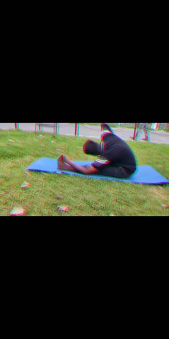 yoga day special  #yogachallenge #yoga #india #roposo #darbhanga_bihar #stretching #pachimottanasana #forwardbend #forward