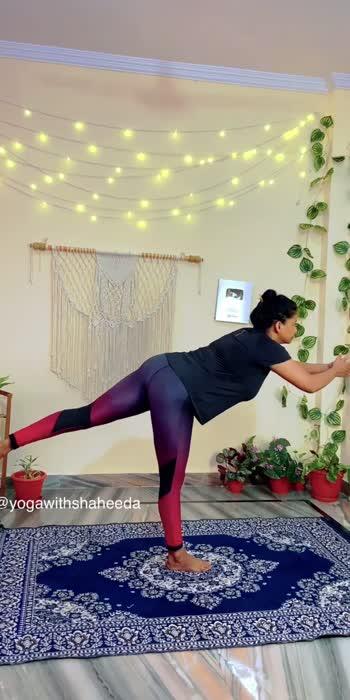Virbhadrasana-3 #yoga #yogaroposo #roposo #roposostar #yogawithshaheeda