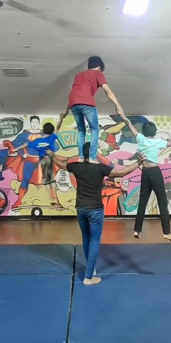 Acro act #acrobatics #strength #balance #balanceact #gokulnathuniquetalentacademy #guta #roposostar