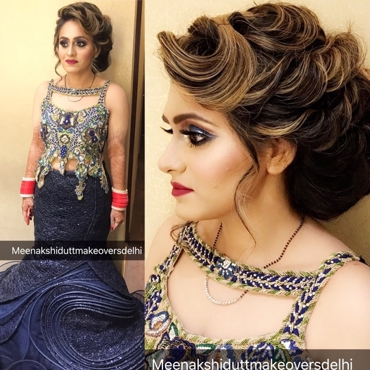 Reception look for this pretty bride #meenakshidutt #meenakshiduttmakeoversdelhi #learn makeup #makeupartistindia #makeupartistdelhi #makeupforalloccassions #hairandmakeupstudio #makeupacademymakeupschool #beautycommunity #hairstyle #bridallook #receptionlook #learn makeup #makeupguru