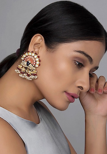 Featuring #green kundan jhumkis by Paisley Pop set in #silver copper alloy adorned with dancing #peacock motif: https://www.indiancultr.com/new-arrivals/classic-brilliance-by-paisley-pop?trk=hmpg-slider #love #beautiful #India #IncredibleIndia #wow #amazing #artisan #instagood #want #neednow #inspiration #Indian #traditional #makeinindia #instalove #instalike #instadaily #photooftheday #webstagram #follow #repost #shop #online #designer #jewelry