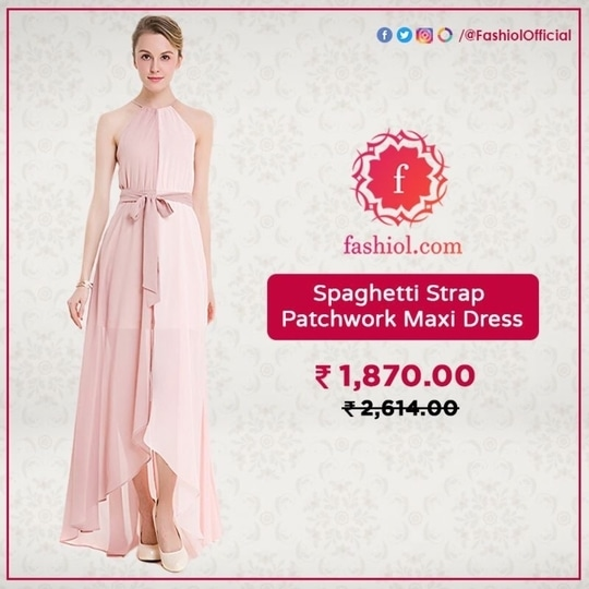 Always master the dress code with our collection of stylish dresses for any occasion. Order this pretty Spaghetti Strap Patchwork Maxi Dress from fashiol.com. Go to the link to place your order 👉 http://bit.ly/2z3xxCR #Fashiol #ShoppingOnline #OnlineStore