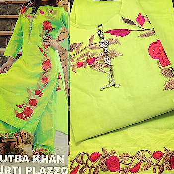 *Rutba Khan VOL - ONE*   *Kurti With Plazo*  Fabric: *Kurti* : Stitched Emb Chanderj Fabric Kurti With Linning Having Beautiful Broch In NeckLine And Tussels On Slit   *Accessories* : Tussels,Broch  *Plazo* : Stitched Emb Chanderi Fabric Plazo (With Linning)  *Singles* : 1550 freeship  *STOCK IN HAND*  *READY TO DESPATCH*.. A2as
