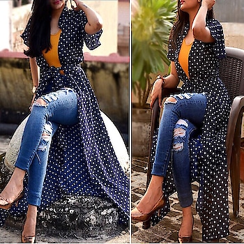 Love for Polka Dots❤️   Look absolutely stunning wearing this beautiful navy blue long shrug from Colorauction. Featuring a mesmerising polka dots prints all over this shrug will win you loads of compliments from the onlookers. The georgette fabric makes this shrug extremely comfortable and soft to wear. Pair this shrug with a spaghetti top and distressed jeans for a perfect look.  Register and get Additional Rs200 off on your 1st order + Free Delivery from Colorauction!  Use coupon code: COLOR200  Hurry up!  Offer valid for limited period only.  To order this beautiful saree reach us out at www.colorauction.com  Colorauction offers FREE SHIPPING along with 7 days easy Return Policy.  #shrugs#fashion#womenswear#onlineshopping#stylepost#styleblogger#igers#ootd#shrugs#springsummer#summer#startup#startuplife#fashiondaily#stylepost#styletrends#trends#trending#offwhite#fashiondiaries#colorauction#colorauctiononline#summerfashion#polkadots#polkadot