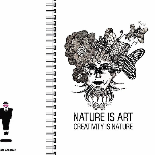 Customised notebooks with handmade artworks done by Sonamm Sharma! Buy now!  Follow us on https://www.facebook.com/sozartcreative