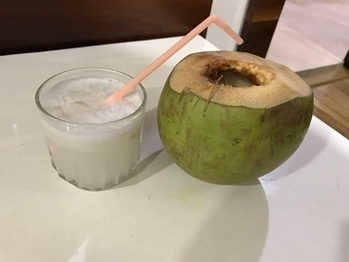 A sweet and refreshing summer drink.This creamy coconut cooler is simple to whip up and will take you to a tropical island immediately.🌿 #beattheheatwithcoolers🍸#summerthings🍹