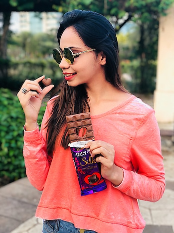 Cadbury Dairy Milk Silk is god's way of saying sorry for #brocolli  Cadbury Dairy Milk Silk is nature's way of sorry for Monday  So grab the new valentine's edition of Cadbury Dairy Milk Silk now 💋🍫💋 #PopYourHeartOut #SayItWithSilk #PlixxoHeartsCadbury #Plixxo @Cadburydairymilksilk @plixxo @popxodaily #fashionmodel #fashionblogger #fashiongram #bloggerlife #bloggerfashion #instagram #forever21 #plixxobypopxo #plixxoinfluencer #plixxoblogger