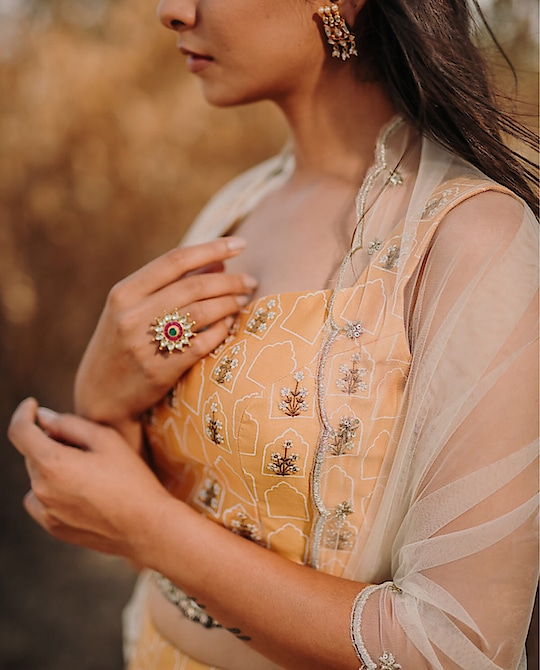 Featuring a mustard jharokha hand-block #printed and #embroidered #crop top, #skirt & dupatta by Ivory by Dipika : https://www.indiancultr.com/designers/ivory-by-dipika?p=1 #love #beautiful #India #IncredibleIndia #wow #amazing #artisan #want #neednow #inspiration #Indian #traditional #makeinindia #instalike #instadaily #photooftheday #follow #repost #awesome #style #shoppingonline #designer #new