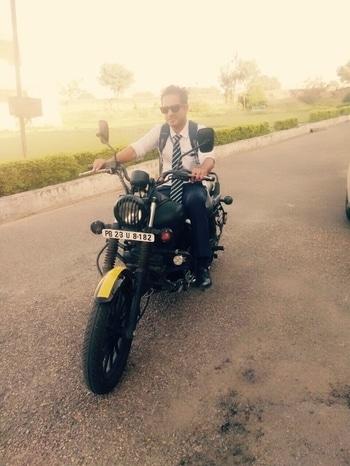 #bikeride#formals#trendsetter#chandigarh#xoxo