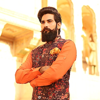 THE SAFFRON STORY....!! . @rivesseclothing ..!! . . . . . #MrRanawat #Rivesse #RivesseClothing #ethnic #indianEthnic #EthnicWear #celebrationWear #EthnicCollection #beard #beardstache #Moustache #mustache