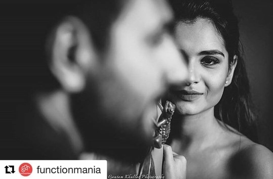 "Thanks for the feature #Repost @functionmania (@get_repost) ・・・ ""You are beautiful, just like your eyes"" 😍😘❤️ Photographer @gautamkhullarphotography 📸 Makeover courtesy: @makeoverbymanleen . DM for collaboration 