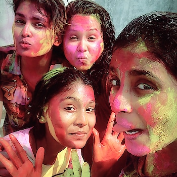 #auspicious red, sunkissed gold, soothing silver, pretty purple ,blissful blue, forever green I wish u happy colourful holi