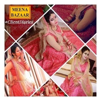 Our charming #happyclient Aditi Bajpai in #MeenaBazaar vogue. #Bridetobe 💞 #fashioninspiration #fashionista #designerwear #designercollection #inspiration