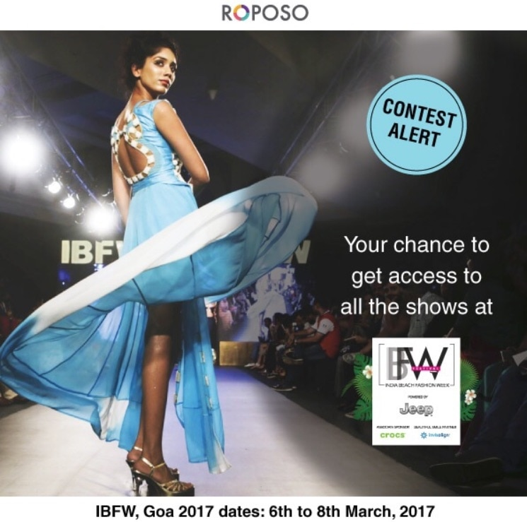 Get yourself ready for the most awaited India Beach Fashion Week 2017 in Goa #SoRoposo #IBFW2017