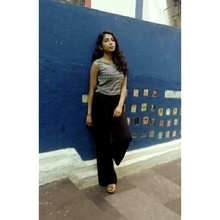 Casual style#throwback #chilling#black-and-white #palazzo #croptop