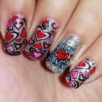 Another Valentine's Day Mani      art#notd#nailartoftheday#thenailartstory#nailartclub#instamani#instanails#nailartoohlala#instapic#nailart#nailsofig#stamping#nailsofinstagram#potd#nailpolish#manicure#nailstagram#nailgasm#nailporn#nailswag#nailitdaily#nailsmakeus#nailartwow#weloveyournailart#nailartpromote#fashion#like4like#red#hearts