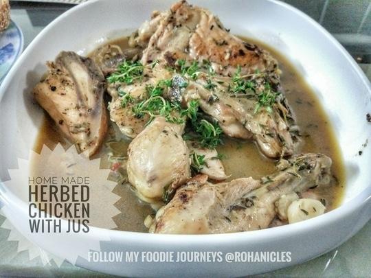Home Made Herbed Chicken with Jus...Can be had with Rice or Bread 😊😊👍👌!! . #Rohanicles #streetfood #foodpics #foodgasm  #foodporn  #foodphotography  #delhi #saadidilli #foodtalkindia #foodstagram  #eeeeeats #pulsestickers #followforlike #foodblogger #delhifoodie  #instafood #lbbdelhi #sodelhi #delhifood #delhidiaries #delhifoodie #ifoundawesome #food52 #delhifoodblogger #foodpics #foodgram #dfordelhi #indianfood #delhi_igers #heydelhi #delhigram #foodblogger #foodgasmic #nycfoods #buzzfeast #foodandwine #instagood #feedyoursoul #lovefood #spoonfed #lb #buzzfeedfood #foodgawker #foodbeast #eeeeeats #feedfeed #yahoofood #eatingfortheinsta #huffposttaste #thekitchn #foodaholic #f52grams #yummyinmytummy #feedfeed