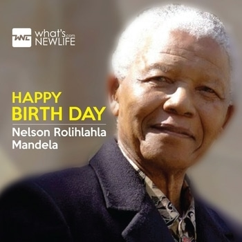 """""""A winner is a dreamer who never gives up""""What's New Life wishes the previous President of South Africa Nelson Mandela on his 99th Birthday Anniversary. #NelsonMandela #birthday  #wishes"""