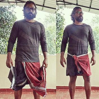 when u get into latest dual color mundu style  in Kerala, thekkady #pyjama  #desi #indian #traditional #casual #ethnic #harempant #tee #tshirt   #ropo-love #roposo #fashion #beardedmen #beard #beardlove  #casual #dailyfashion #fitness #fitnessfreak #workout #weights #strength #power #jungle #kerala #indian #travel #backpack #vagabond #mundu #lungi