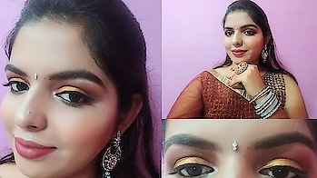 Gold glitter Makeup tutorial for any Indian festival like durga pooja, karwa chauth, Diwali etc. Video is up on my channel do watch it out. My youtube channel link is in my bio.  Swipe 👉  #makeup #makeuptutorial #goldglitter #glitter #glittermakeup #glittermakeuptutorial #goldeneyes #redlips #Diwali #karwachauth #diwalimakeup #durgapooja #navratri #navratrimakeup #karwachauthmakeup #festival #festivemakeuplook #makeuplook #shriyashukla #Indianmakeuplook #glittergalaxy #wingedeyeliner #roposo #roposotalks #roposoloves #soroposo #lookgoodfeelgood #rangolichannel