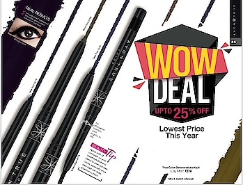 #Product_Tip_Of_The_Day *True Color Glimmersticks Kajal* Benefits: 👉Fade proof, smudge proof and water proof 👉Swirl slightly to use, no sharpener required 👉Smoothly glides on, does not pull or tug eyes 👉Gives intense bold look and matteasts long 👉Available in 4 shades MRP: ₹278/- #avon #avonindia #kajal #beautifuleyes #eye-makeup #makeup