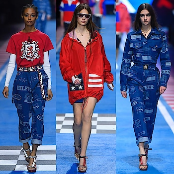 @tommyhilfiger x @gigihadid runway in Milan Fashion Week SS18 see now, buy now collection  #mfw18 #mfw #milan #italy #milanofashionweek #milanfashionweek #fashionweek #model #inspiration #trends #fashion #frontrow #designer #outlook #readytowear #catwalk #runway #fashionista #springsummer2018 #ss18 #ss18collection #springsummer #collection #newestcollection #tommyhilfiger #tommyxgigi #gigihadid #seenowbuynow