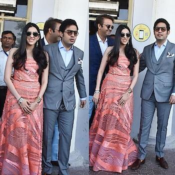 #akashambani  and #shlokamehta  arrive for #priyankakishaadi #bollywood #love #song #weddingthings #wedding #priyankachopra #nickjonas